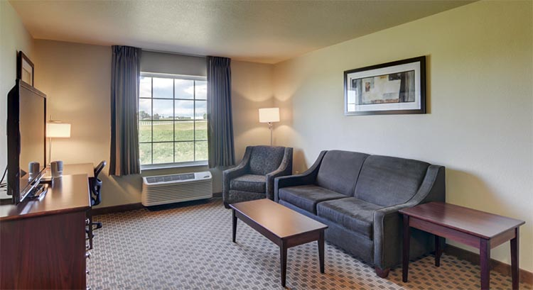 Extended Stay Suite Livingroom